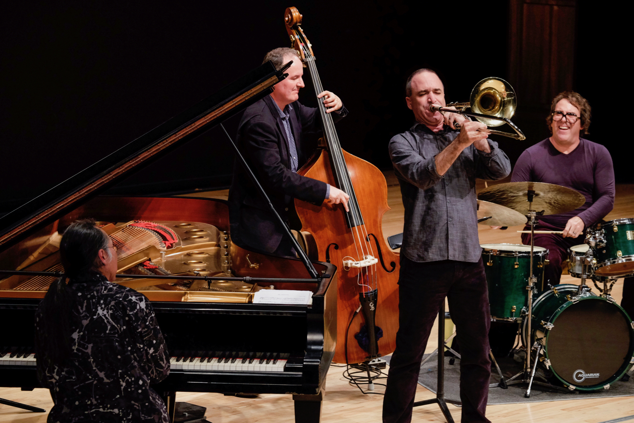 Kei Akagi Trio with Darek Oles and Jason Harnell and guest Michael Dessen, 2014 UC Irvine