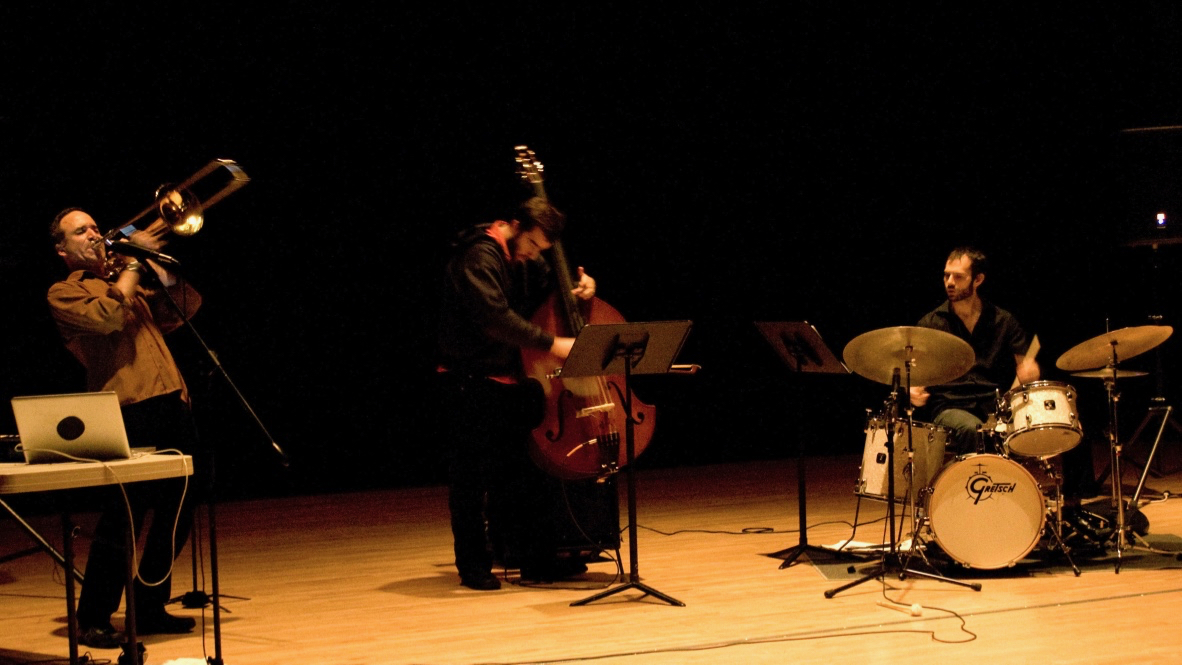 Michael Dessen Trio with Chris Tordini and Dan WeissConcert at UC Irvine, May 7, 2011Photos by Danielle Palomares