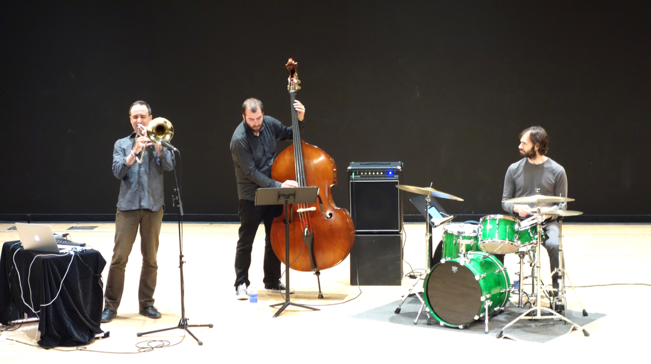 Michael Dessen Trio with Chris Tordini and Dan Weiss, UC Irvine concert 2014